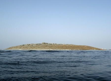 A pakisztáni földrengés következtében létrejött új sziget 2013. szeptember 25-én