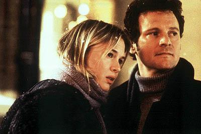 Renée Zellweger és Colin Firth a Bridget Jones naplója című film egyik jelenetében