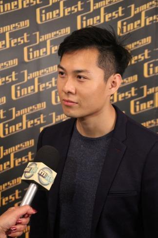 Anthony Chen szingapúri rendező az Ilo Ilo film elismeréseivel a 10. Miskolci Nemzetközi Filmfesztiválon 2013. szeptember 21-én (Fotó: Mészáros Márton)