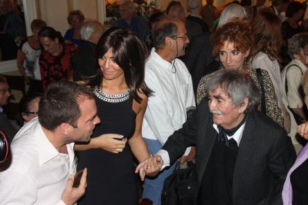 Juhász Anna és édesapja, Juhász Ferenc Kossuth-díjas költő a Petőfi Irodalmi Múzeumban 2013. szeptember 10-én, ahol a költőt 85. születésnapja alkalmából köszöntötték