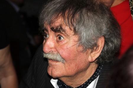 Juhász Ferenc Kossuth-díjas költő a Petőfi Irodalmi Múzeumban 2013. szeptember 10-én, ahol a költőt 85. születésnapja alkalmából köszöntötték