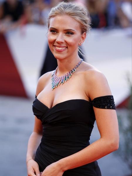 Scarlett Johansson amerikai színésznő az Under the Skin című filmje bemutatóján a 70. Velencei Nemzetközi Filmfesztiválon 2013. szeptember 3-án