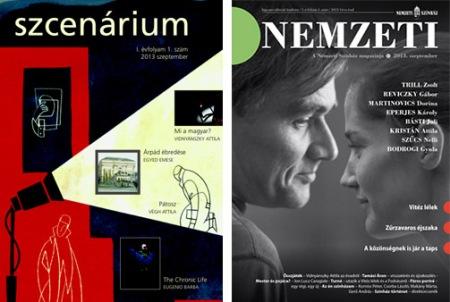 A Nemzeti Színház két most megjelent magazinja, a Scenarium és a Nemzeti