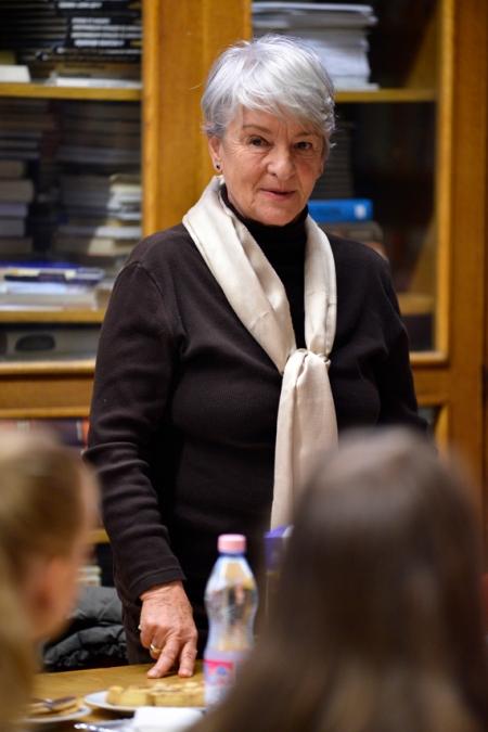 Gróf Nádasdy Borbála az Alsóerdősori Bárdos Lajos Gimnáziumban 2013. október 10-én