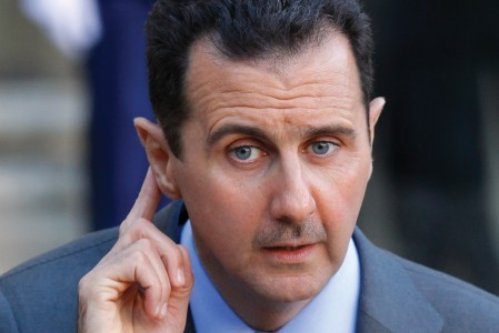 Bassár el-Aszad szíriai államfő