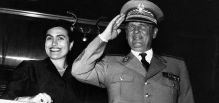 ovanka Broz és férje, Josip Broz Tito egykori jugoszláv kommunista vezető
