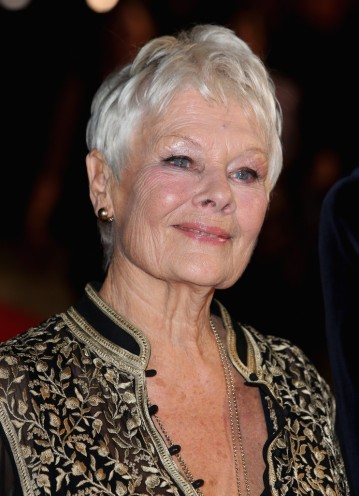 Judi Dench brit színésznő a Philomena című filmje premierjén a londoni filmfesztiválon 2013. október 16-án