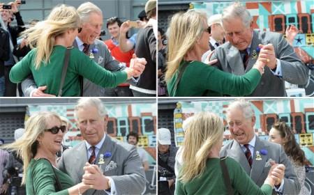Károly herceg táncol