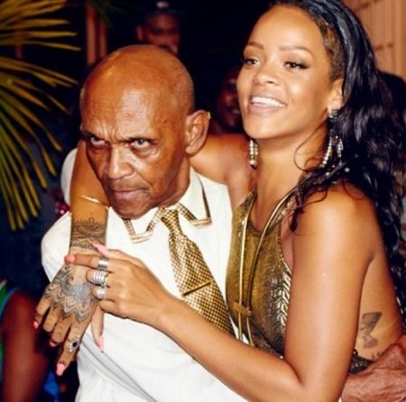 Rihanna barbadosi énekesnő és nagyapja, Bravo az öregúr 85. születésnapján (Fotó: Rihanna/Twitter)