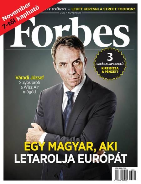 A magyar Forbes magazin első lapszáma 2013. november 7-én jelent meg