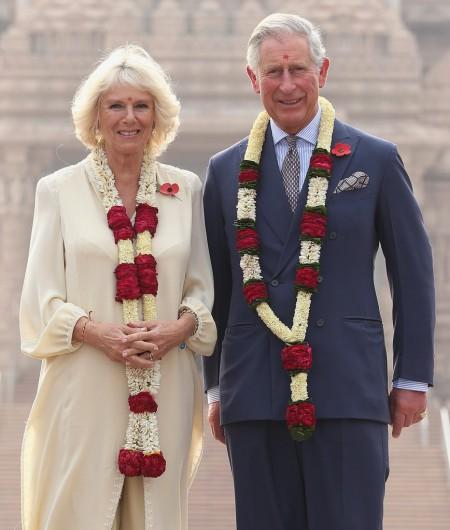Károly herceg és Camilla hercegnő Delhiben