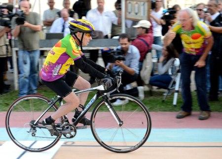 Robert Marchand kerékpáron