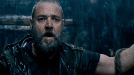 Russell Crowe Noé szerepében a Darren Aranofsky rendezte Noé című filmben