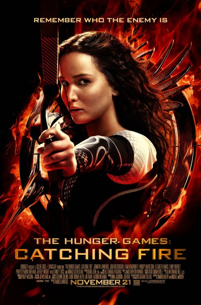 Az éhezők viadal: Futótűz (The Hunger Games: Catching fire) című film posztere