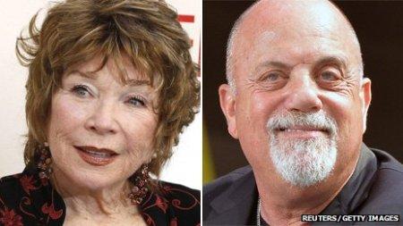 Shirley MacLaine Oscar-díjas amerikai színésznő és  Billy Joel Grammy-díjas amerikai énekes