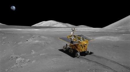 A Holdon sikeresen landoló Jáde nyúl űrjáró makettje