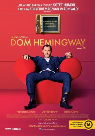 A Dom Hemingway című film plakátja