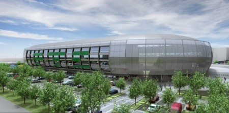 Az FTC-stadion látványterve
