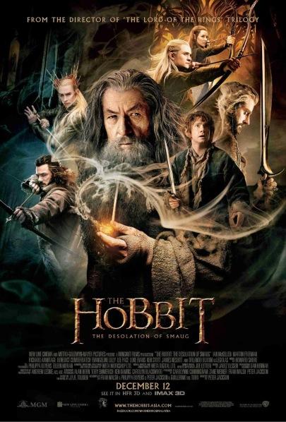 A hobbit - Smaug pusztasága című film magyar nyelvű posztere