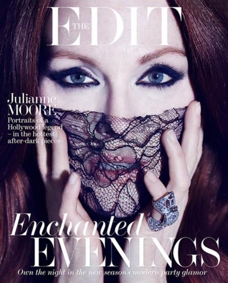 Julianne Moore amerikai színésznő a The Edit magazin 2014 januári címlapján