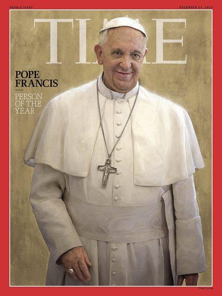A Time magazin Ferenc pápát ábrázoló 2013. december 23-i címlapja