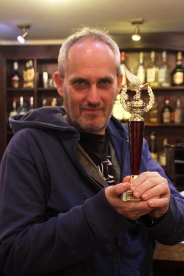 Szász János filmrendező az Arany Medál-díjjal 2013. december 13-án (Fotó: Mészáros Márton)