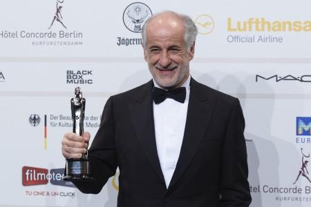 Toni Servillo olasz színész  az Európai Filmdíjak átadási ünnepségén Berlinben 2013. december 7-én