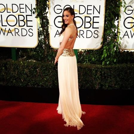 Palácsik Tímea a 71. alkalommal odaítélt Golden Globe-díjak átadási ünnepségén Los Angelesben 2014. január 12-én