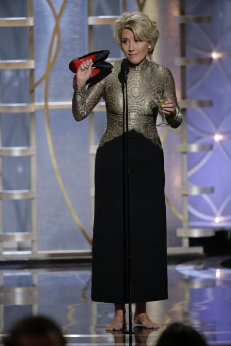 Emma Thompson brit színésznő a 71. alkalommal odaítélt Golden Globe-díjak átadási ünnepségén Los Angelesben 2014. január 12-én