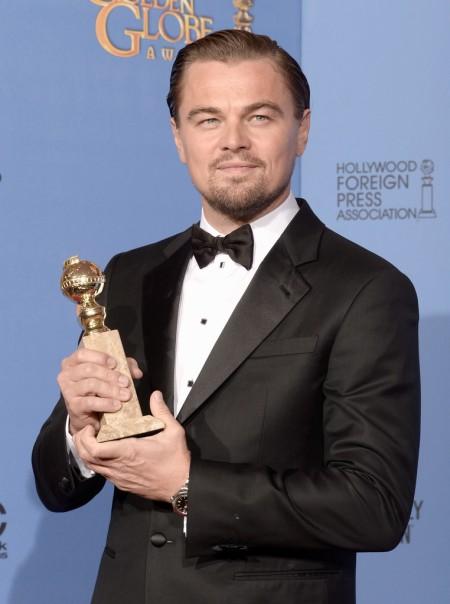 Leonardo DiCaprio amerikai színész a Golden Globe-díjak 71. átadási ünnepségén Los Angelesben 2014. január 13-án