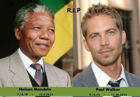 Nelson Mandela Nobel-békedíjas dél-afrikai államfő és Paul Walker ausztrál színész is 2013 halottjai