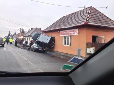 Karambol Marosvásárhelyen 2014. január 24-én (Forrás: Facebook)