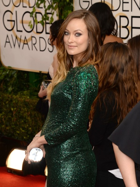 Olivia Wilde amerikai színésznő a 71. alkalommal odaítélt Golden Globe-díjak átadási ünnepségén Los Angelesben 2014. január 12-én