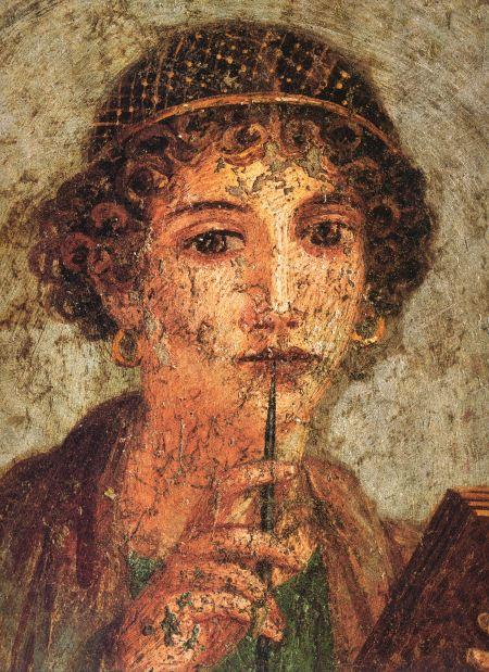 Elterjedt ábrázolás Szapphóról (Kr. e. 619 k.–568 k)