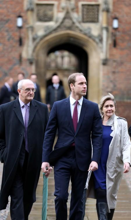 Vilmos cambridge-i herceg, a brit trónörökös fia megkezdi tanulmányait a cambridge-i egyetem agrármenedzseri kurzusán 2014. január 7-én