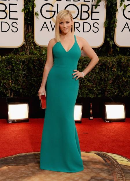 Reese Witherspoon amerikai színésznő a 71. alkalommal odaítélt Golden Globe-díjak átadási ünnepségén Los Angelesben 2014. január 12-én