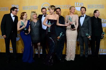 Az Amerikai botrány (American Hustle) című film stábja az amerikai film- és televíziós színészek céhe, a SAG 20. díjkiosztóján Los Angelesben 2014. január 18-án