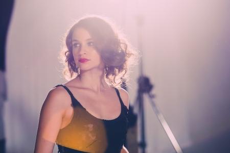 Törőcsik Franciska színésznő a Swing című film forgatásán (Fotó: Takács Attila)
