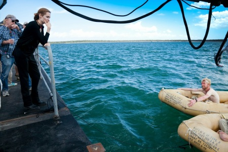 Angelina Jolie amerikai színésznő az Unbroken című filmje forgatásán Ausztráliában