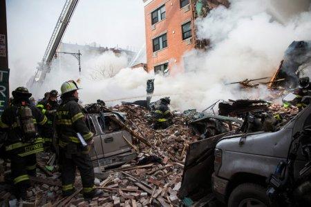 Felrobbant épület New Yorkban 2014. március 12-én
