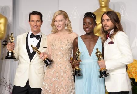 Matthew McConaughey, Cate Blanchett, Lupita Nyong'o és Jared Leto - az idei Oscar-díjasok az Oscar-gálán Los Angelesben 2014. március 2-án