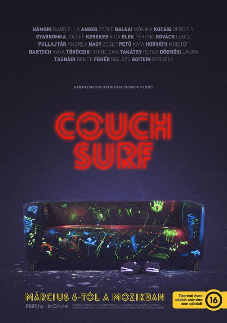 A Couch Surf című magyar film plakátja