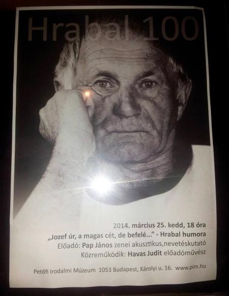 100 éve született Bohumil Hrabal cseh író