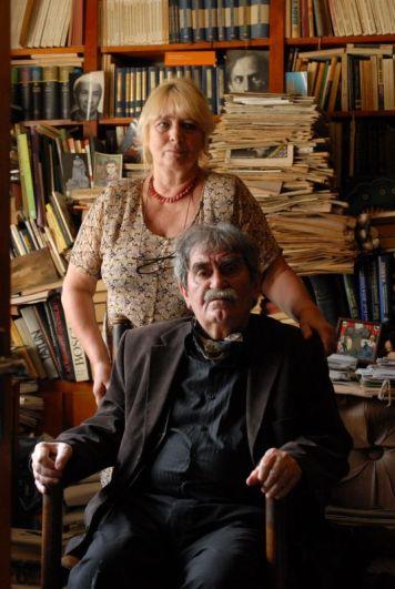 Juhász Ferenc költő és felesége, Kilián Katalin