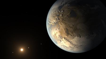 Kelper-186f névre keresztelték Földhöz hasonló bolygó grafikája (2014. április 17.)