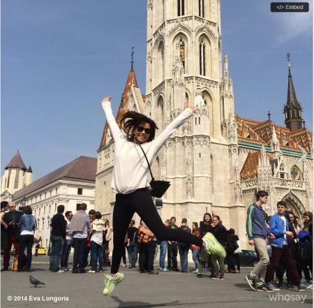 Eva Longoria amerikai színésznő Budapesten 2014. április 1-jén (Fotó: Eva Longoria/Instagramm)