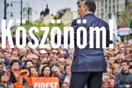 Orbán Viktor kormányfő köszönő üzenete