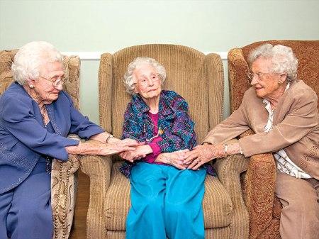 Rubye Cox (110), Ruth Branum (104) és Rose Shloss (101), a három nővér