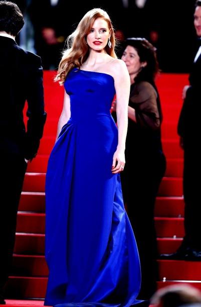 Jessica Chastain amerikai színésznő a cannes-i filmfesztiválon 2014. május 17-én