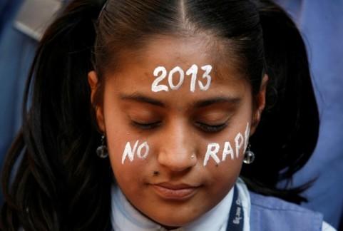 Tüntetés a nemi erőszak ellen Indiában